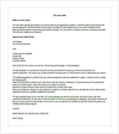 35+ Cover Letter Template | Free & Premium Templates