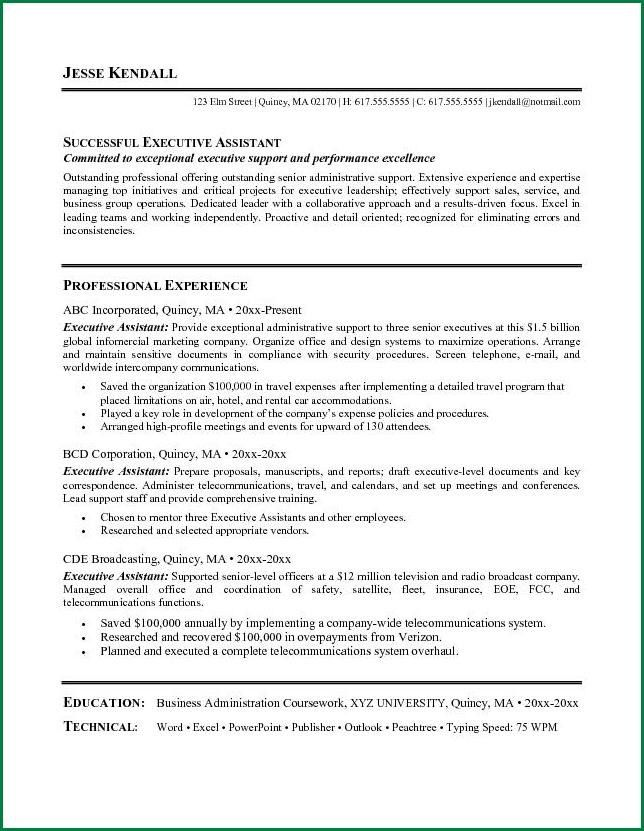 Senior Executive Assistant Resume. Executive Assistant Resume ...