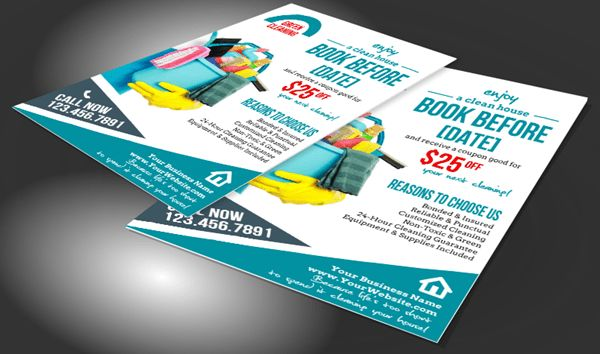House Cleaning Flyers to Promote Your Business
