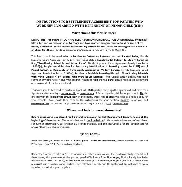 Settlement Agreement Template -13+ Free Word, PDF Document ...