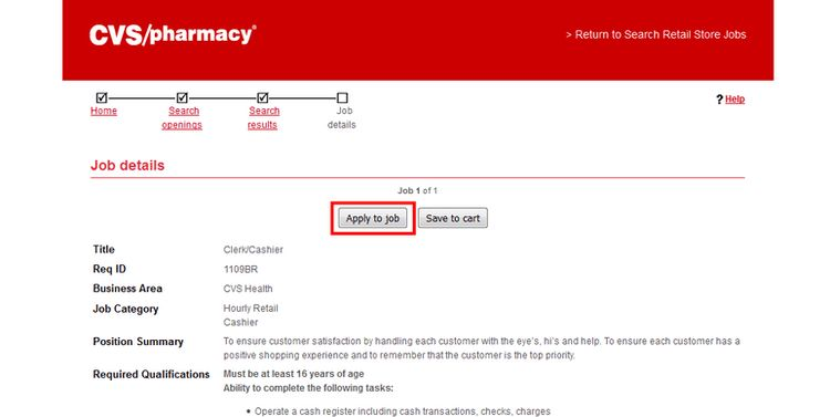 How to Apply for CVS Jobs Online at cvs.com/careers