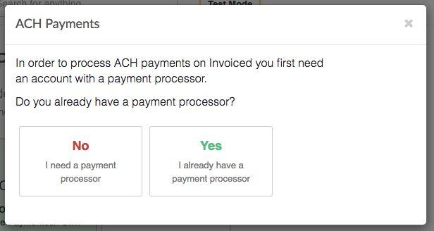 ACH - Invoiced