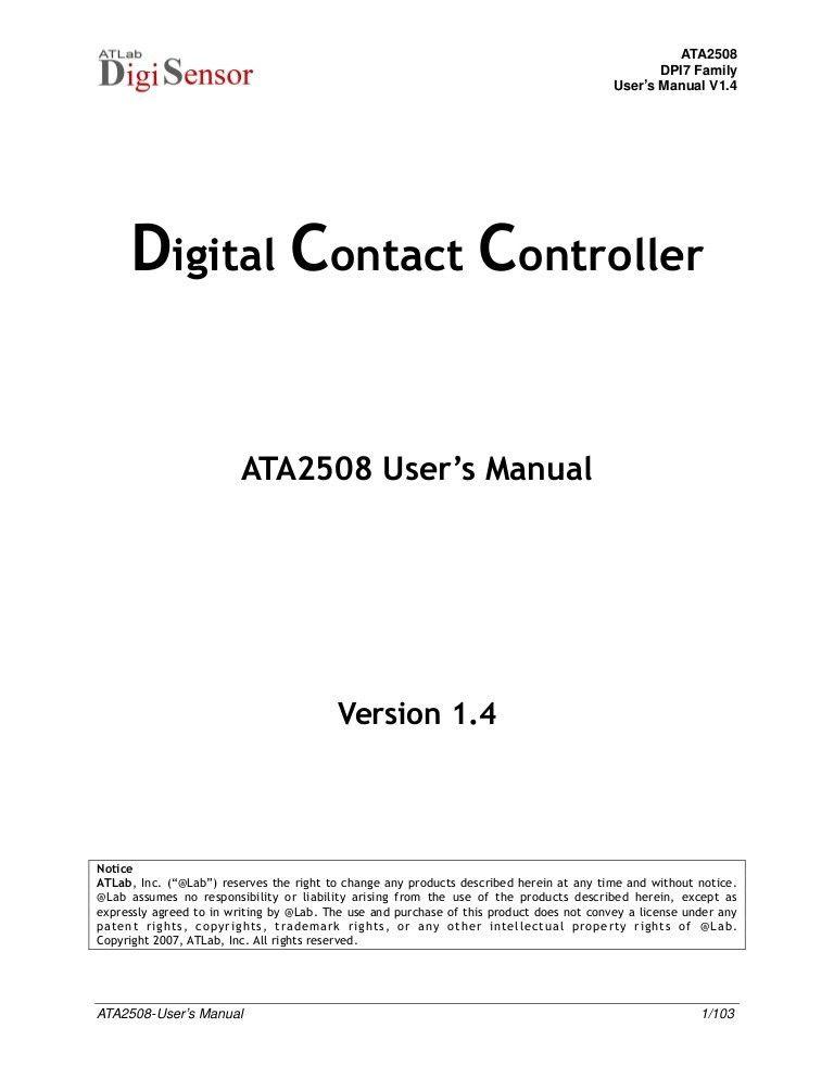Ata2508 Users Manual V1