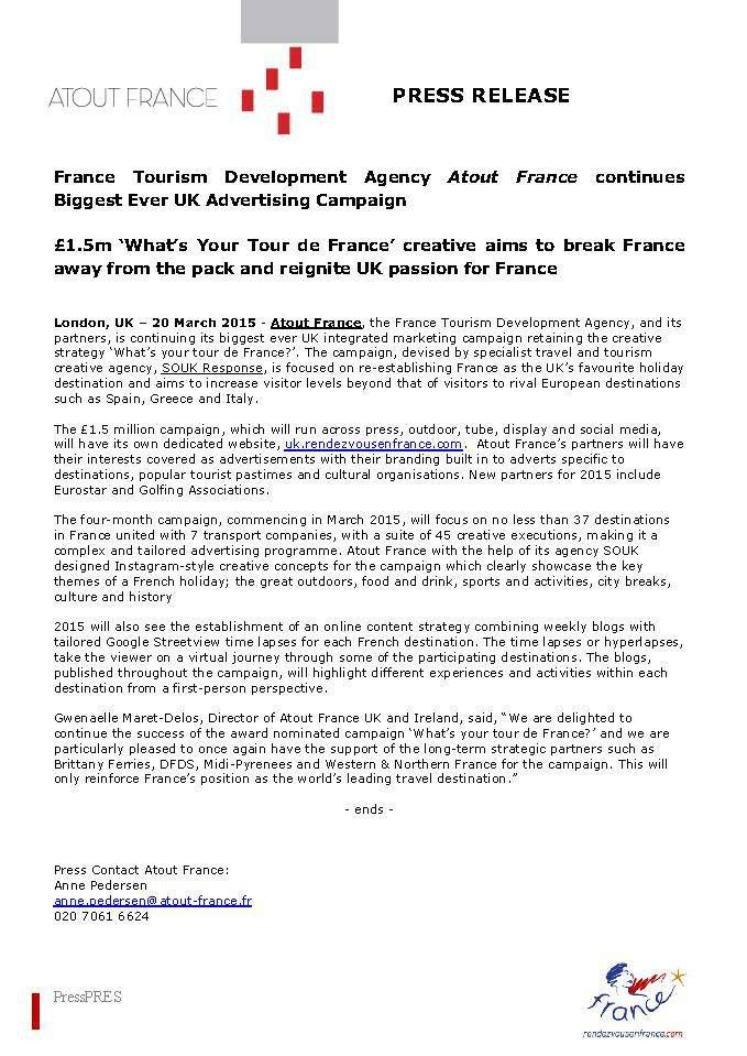 Press releases – France uncovered