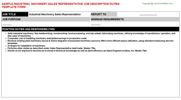 Job Descriptions And Duties Samples For Jobs