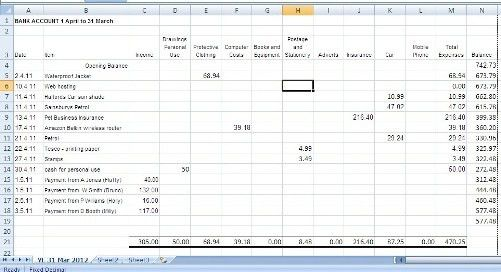 Book Keeping Spreadsheets for Small Business