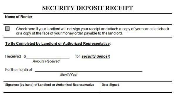 Rental Deposit Form. Web Form Templates | Customize & Use Now ...