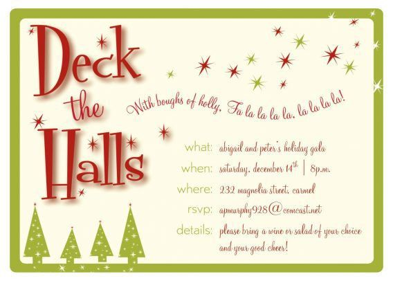 Holiday Party Invitation Wording Examples | cimvitation