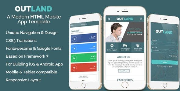 Outland - iOS & Android Mobile App Template by HasTech | CodeCanyon