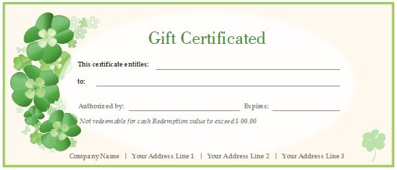 Free Gift Certificate Templates - Customizable and Printable