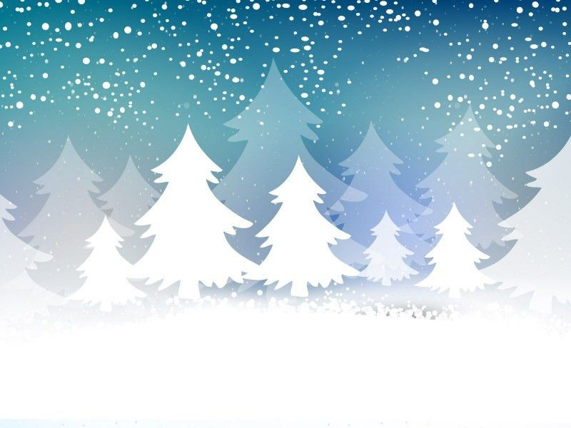 Christmas Tree Card Powerpoint Templates - Blue, Christmas - Free ...