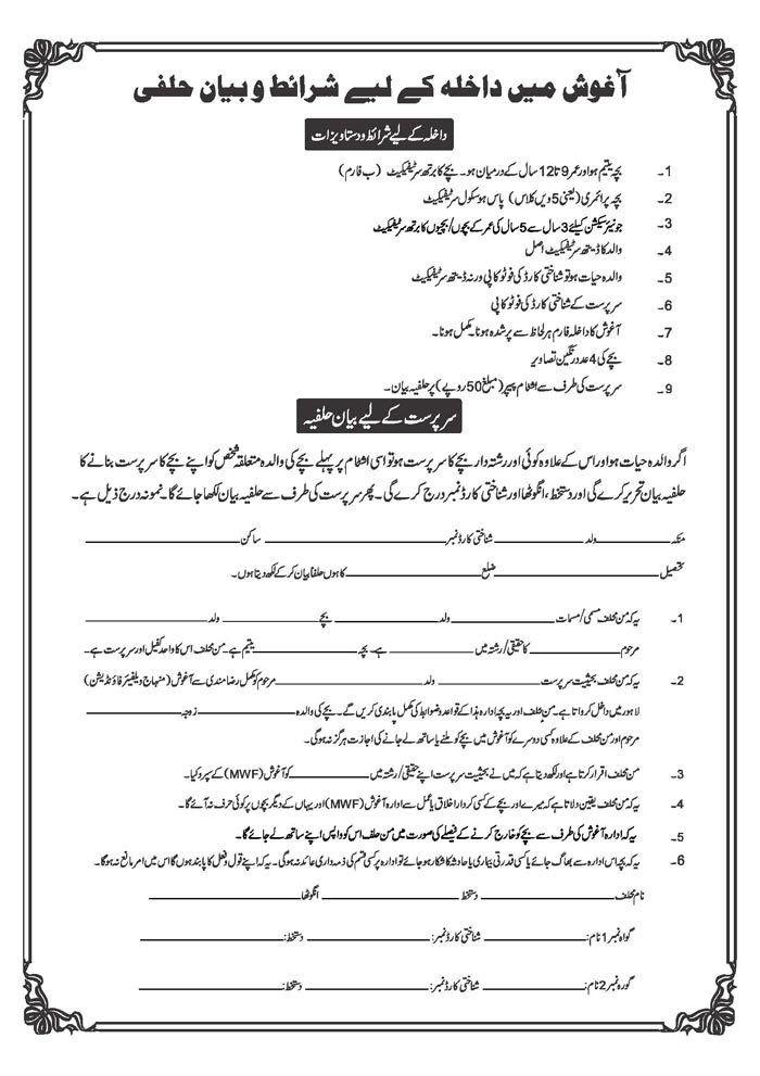 Download: Application Form for Admission Aghosh - Minhaj-ul-Quran