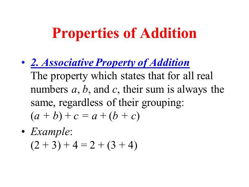 Properties of Addition - ppt download