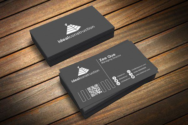 Free Black & White Business Card Template & Mockup PSD + 3Ds Max ...