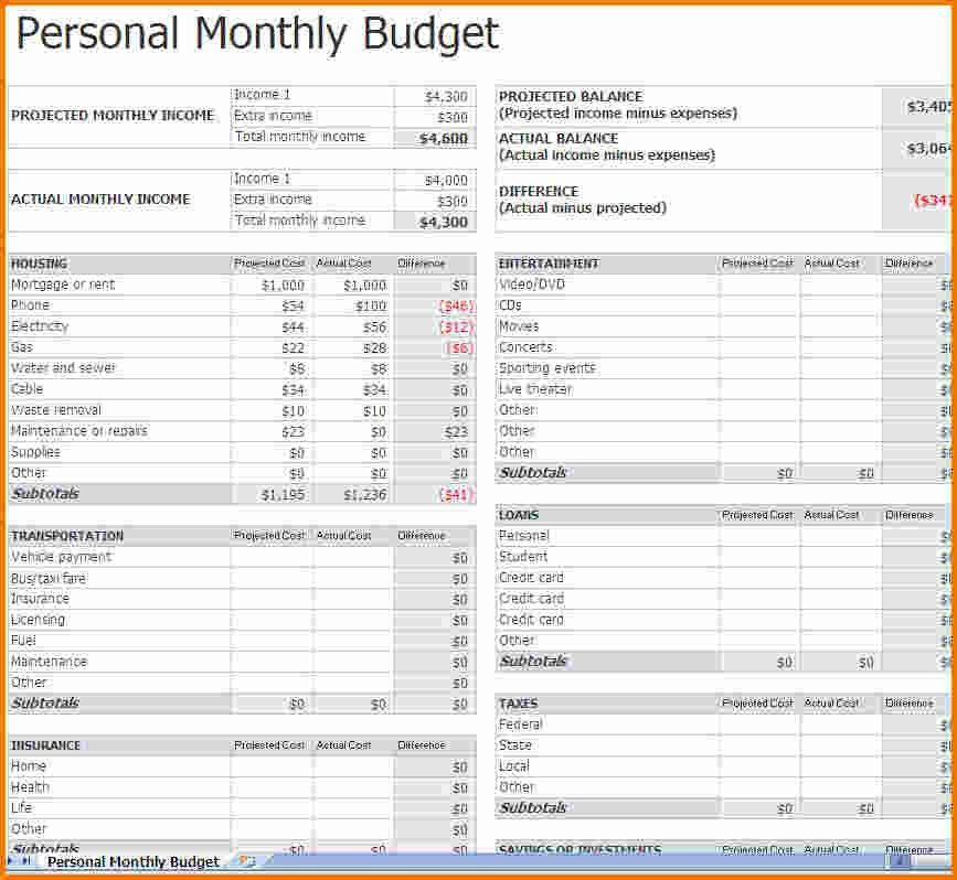 3+ budget spreadsheet templates | Expense Report
