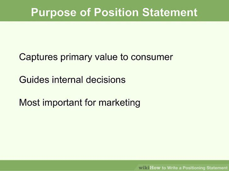 How to Write a Positioning Statement: 8 Steps (with Pictures)