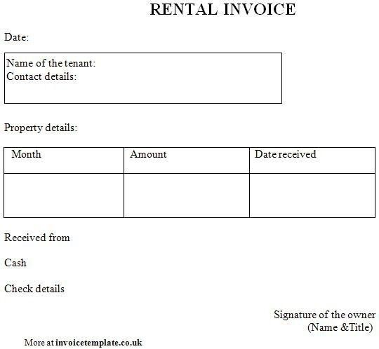 Rent Invoice Template Word - Best Resume Collection