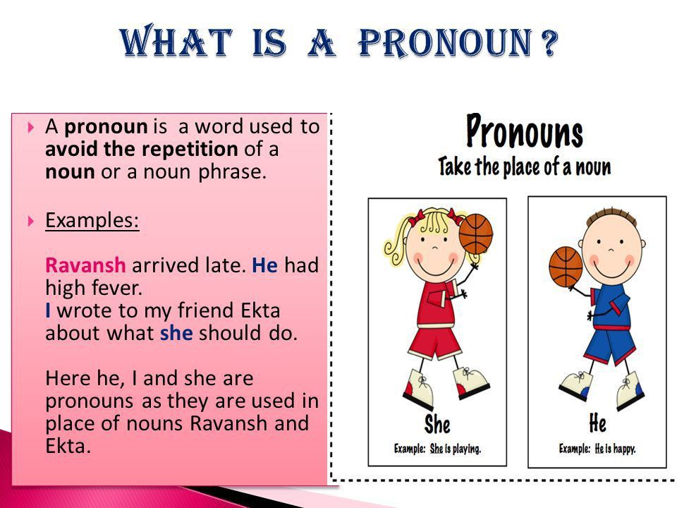A pronoun is a word used to avoid the repetition of a noun or a ...