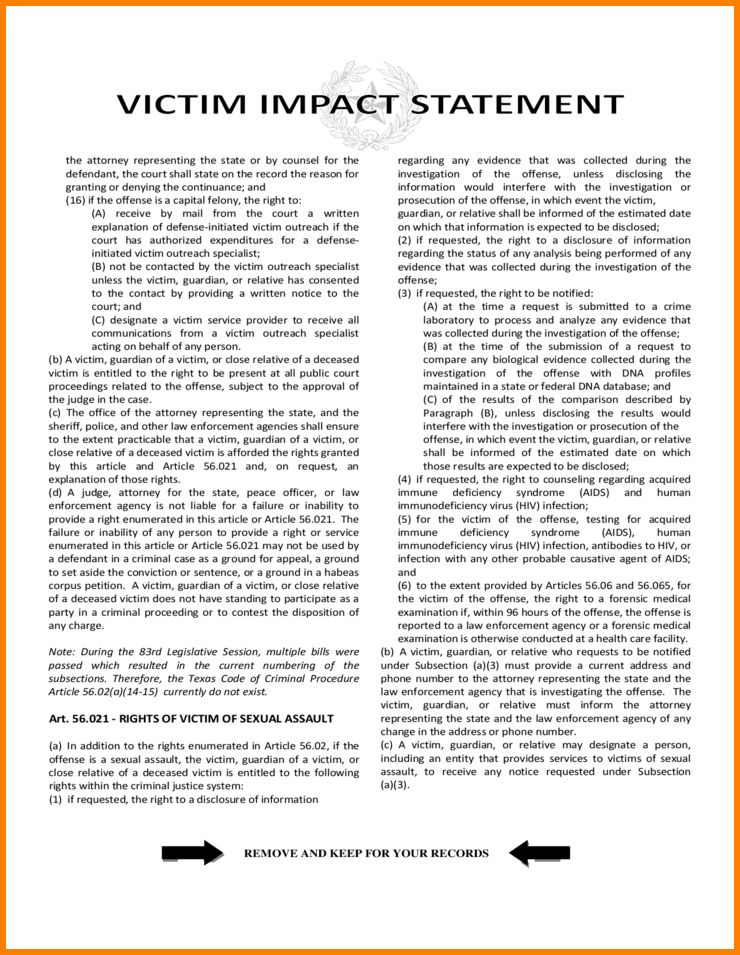 2+ victim impact statement template | employee-timesheet