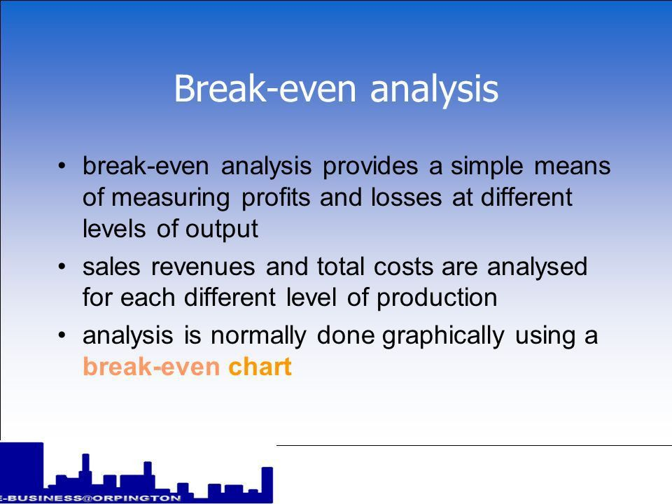 Define Breakeven Analysis | Jobs.billybullock.us