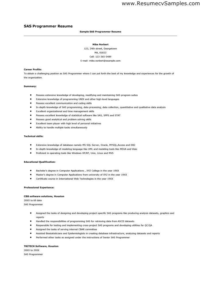 programmer resumes