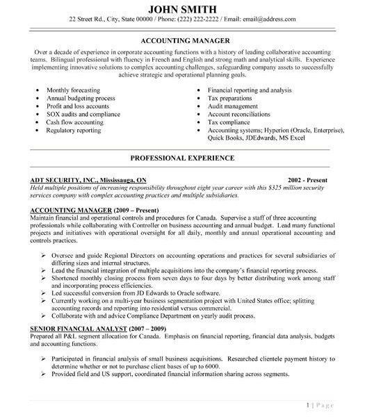 Beautiful Looking Accounting Manager Resume 4 31 Best Images About ...