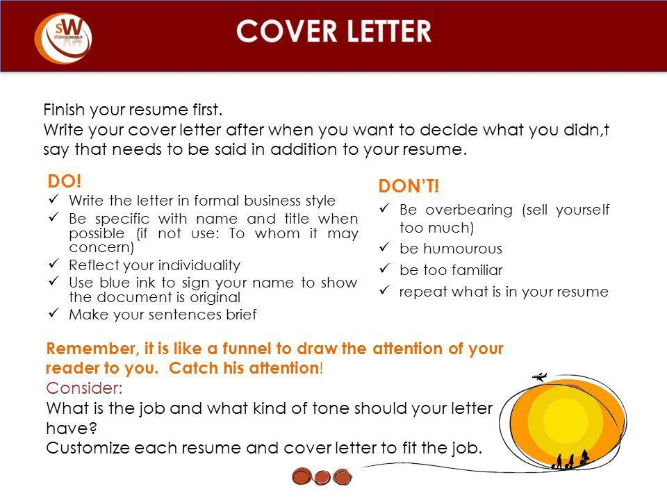 basic cover letter breakdown this is the format we were taught ...