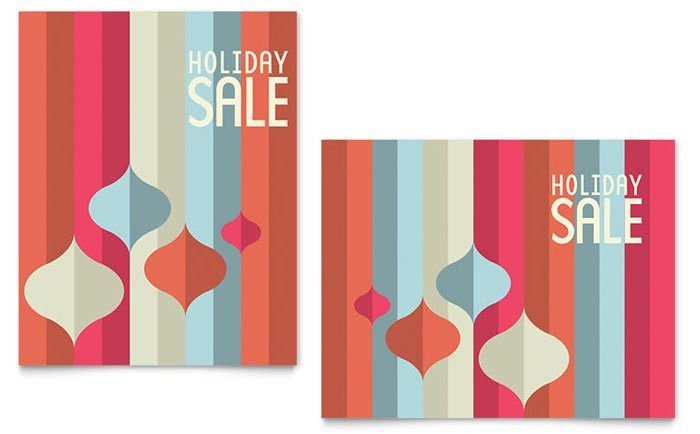 Modern Ornaments Sale Poster Template Design