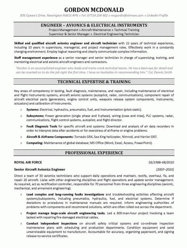 Download Helicopter Maintenance Engineer Sample Resume ...