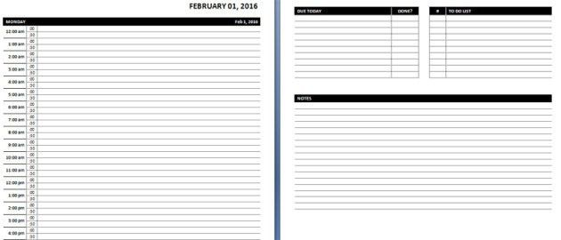 printable daily schedule template daily planner : Helloalive