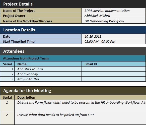 Free Template Download: BPM Minutes of Meeting - Sponsored by ...