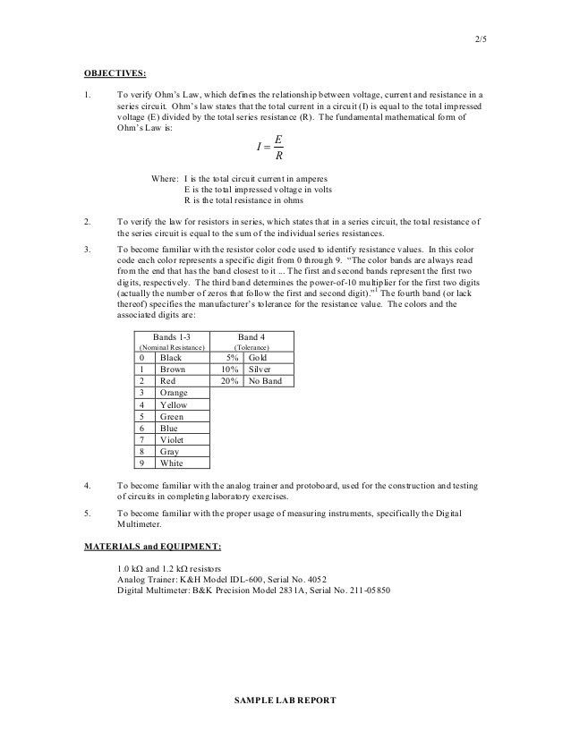Lab Report Sample. Lab Report Templante For 10Th And 9Th Grade Lab ...