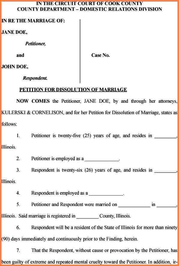 5+ free printable divorce papers for illinois | Divorce Paper