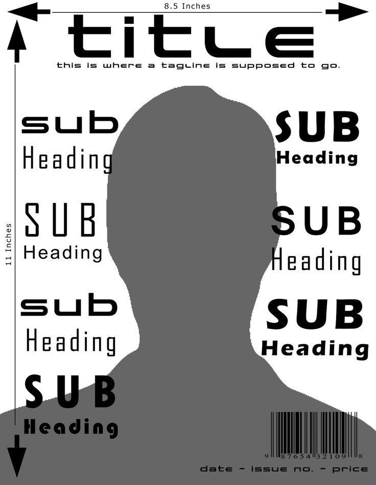 Magazine Cover Template and Dimensions | Magazine Design ...