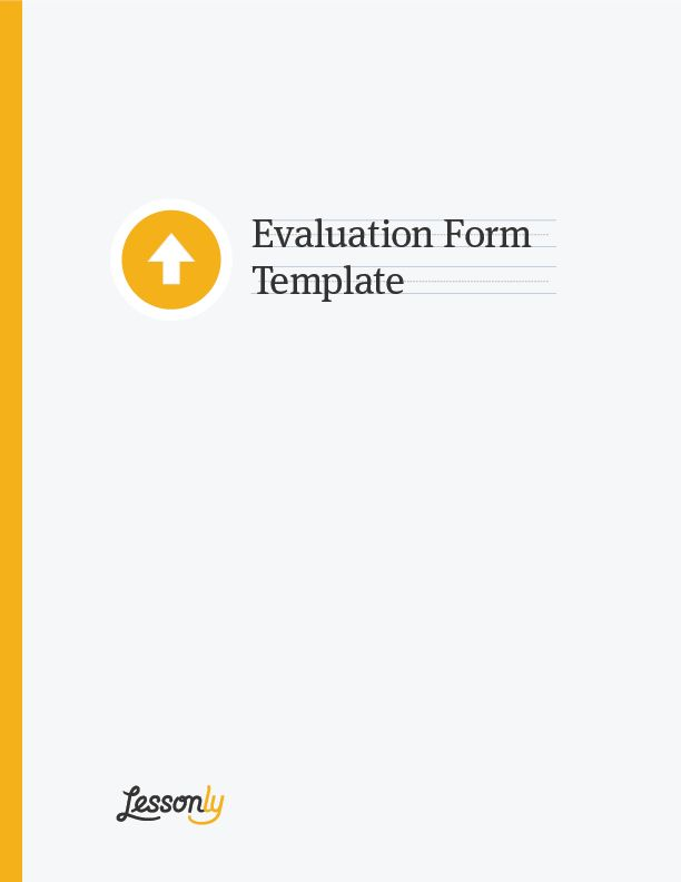 FREE Employee Evaluation Form Template - Lessonly