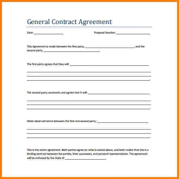 Template For Contractor Agreement. plumbing contract template ...
