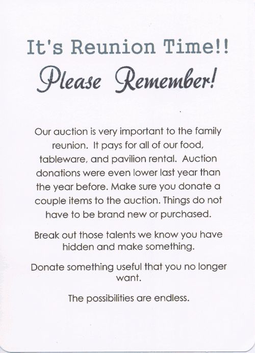 49th Annual Palmer Family Reunion invitation back | Invitations ...