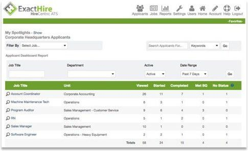 ExactHire Applicant Tracking Software | Online Recruiting Software