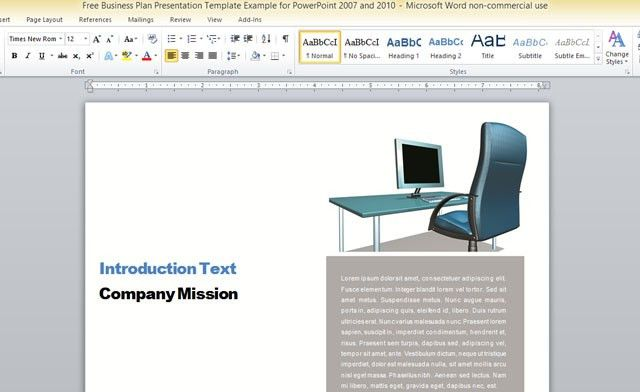 Business Report Notebook Template For Word