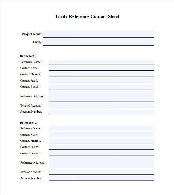 Sample Trade Reference - 5+ Documents in PDF