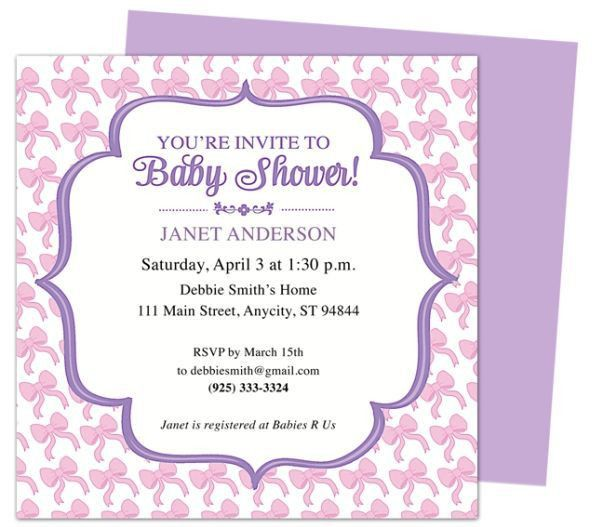29 best Baby shower invitation templates images on Pinterest ...