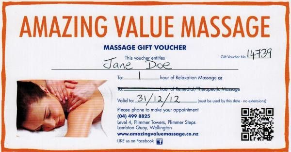 Gift Vouchers | Amazing Value Massage | Affordable Relaxation and ...