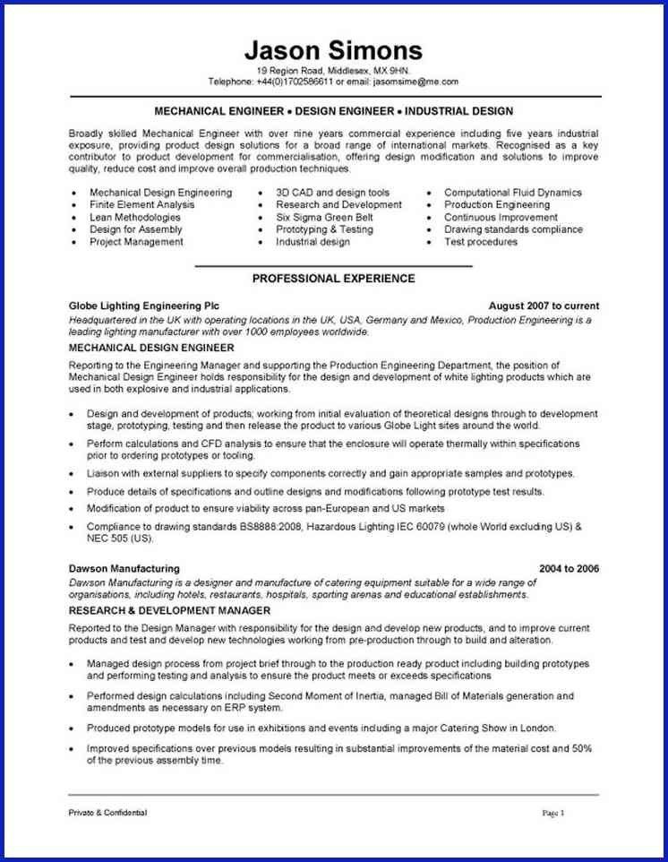 MANUFACTURING ENGINEER RESUME | proposal cv