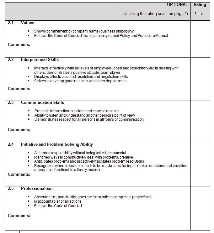 Appraisals Template. appraisal template appraisal template ...