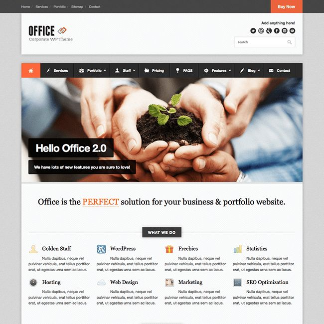 Office Responsive WordPress Business Theme