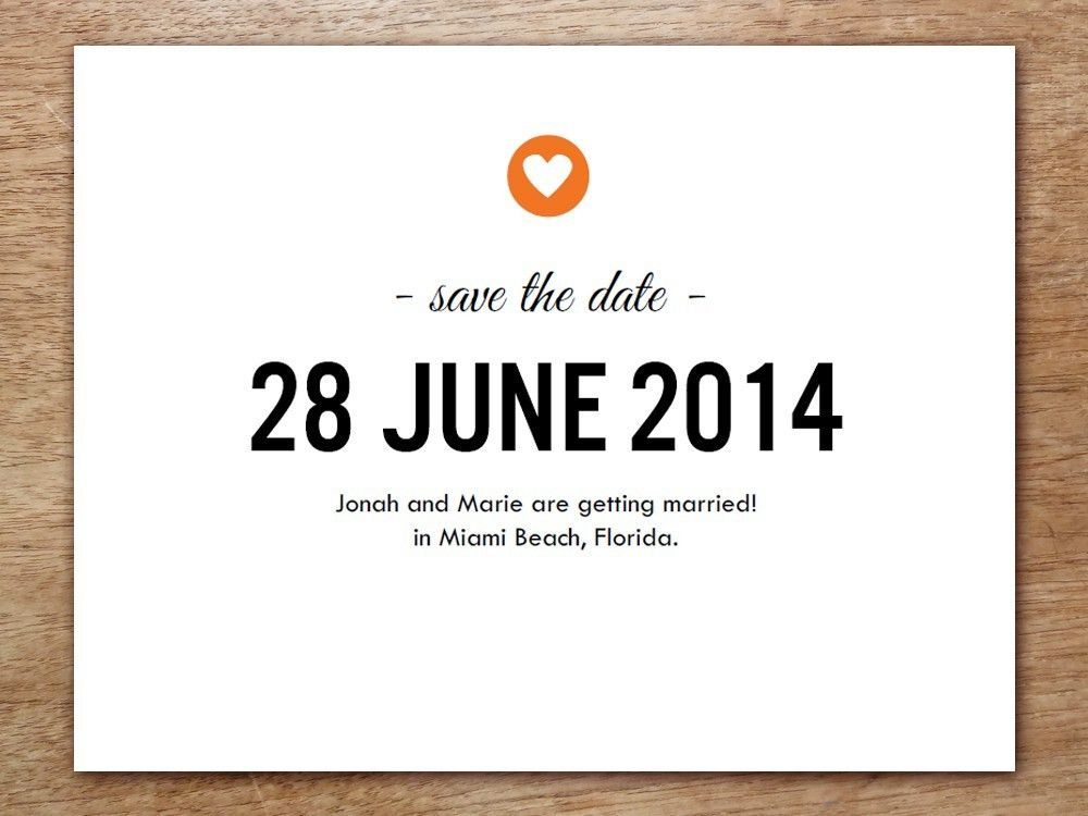 simple wedding save the date card template invitation in stunnng ...