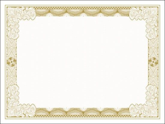 Vector Printable Blank Certificates | Certificate Templates
