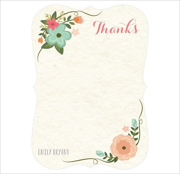 30+ Personalized Thank You Cards – Free Printable PSD, EPS Format ...