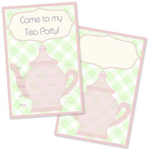 Tea Party Invitation Template – gangcraft.net
