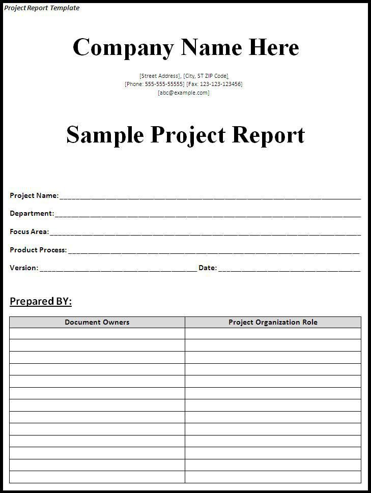 project report word template - Template